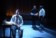 John Allore, Sean Wellington and Juan Isler in the Burning Coal Theatre Company production of David Edgar's Written on the Heart (US Premiere), directed by Jerome Davis (Photo by the Right Image Photography, Inc.)