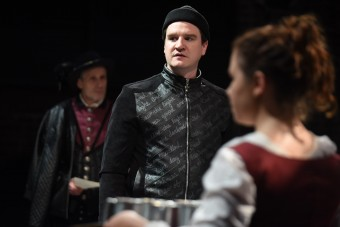 Alec Donaldson, Gus Allen and Kaley Morrison in the Burning Coal Theatre Company production of David Edgar's Written on the Heart (US Premiere), directed by Jerome Davis (Photo by the Right Image Photography, Inc.)