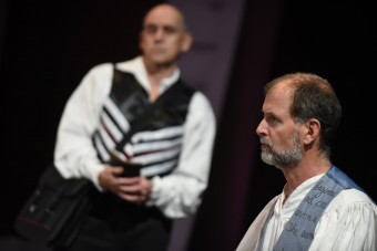 Simon Kaplan and Greg Paul in the Burning Coal Theatre Company production of David Edgar's Written on the Heart (US Premiere), directed by Jerome Davis (Photo by the Right Image Photography, Inc.)