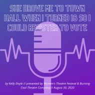 logo - she drove me to town hall